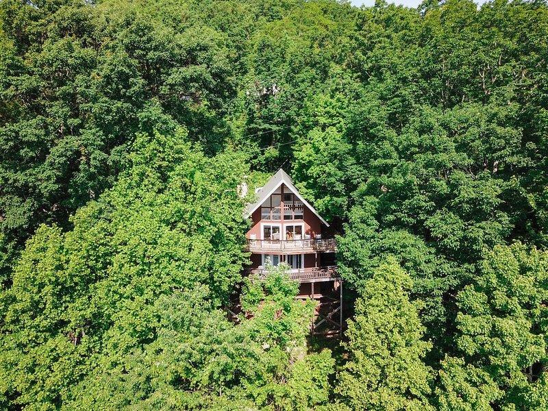 Spectacular Views High in the Smokies! Updated Rustic 5 bed Cabin in Gatlinburg, location de vacances à Gatlinburg