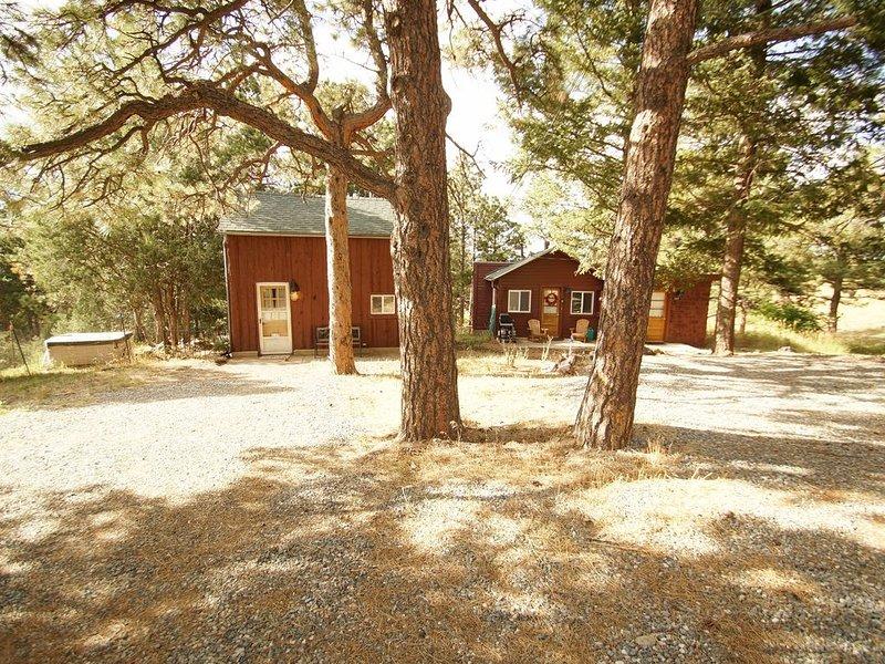 Caretaker Cabin on Left, Moonshiner on Right