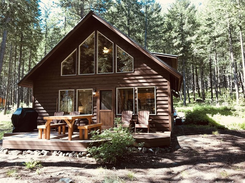 Blue Pine Guest House - luxury cabin close to the trails!, holiday rental in Mazama