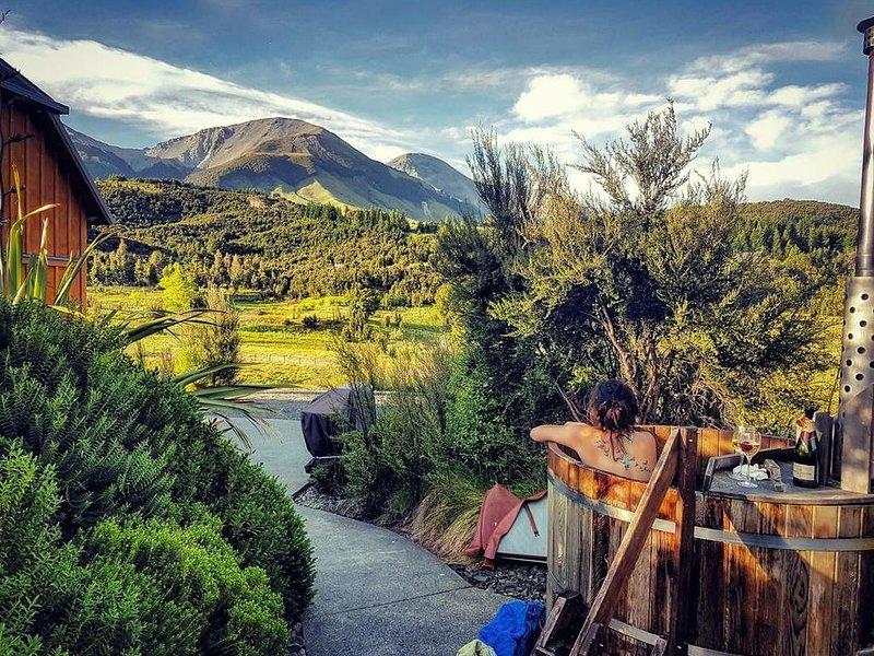 Awardwinning luxury eco lodge with outdoor hot tub and amazing views, alquiler vacacional en Canterbury Region