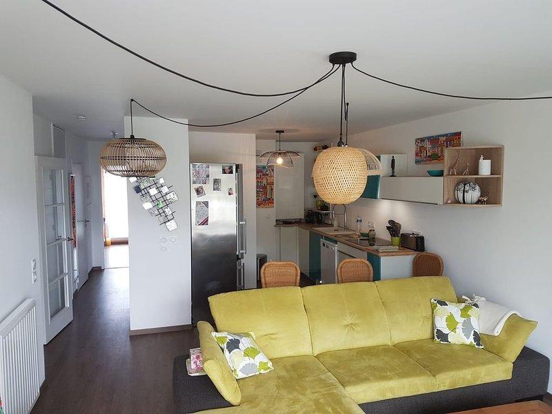 Appartement tranquille avec terrasse au centre de Vannes, alquiler vacacional en Morbihan