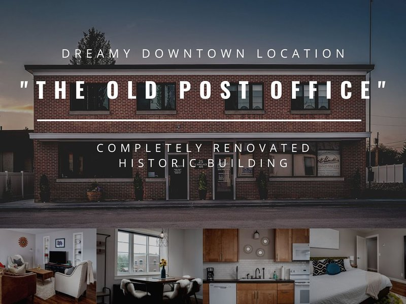'The Old Post Office' - Mid-Century Mod Apartment in Downtown Driggs - With W/D, holiday rental in Driggs