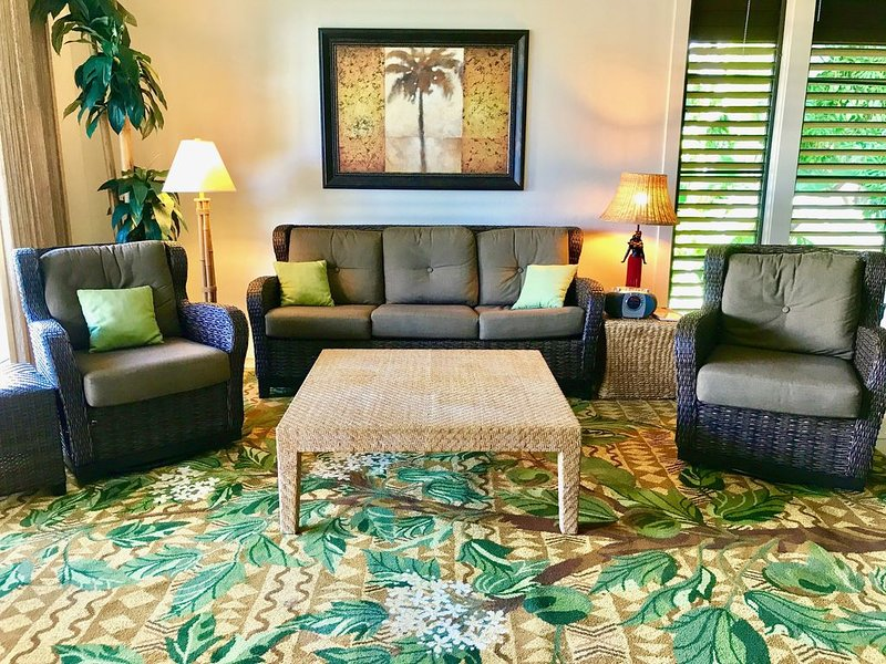 Kiahuna Plantation 2BR/2BA - Poipu Beach Condo Resort, Pool/Gym, End Unit, holiday rental in Poipu