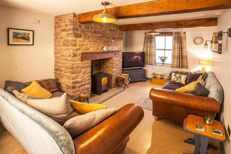 Cosy cottage in hamlet with pub, near Brecon - children and/or dogs welcome!, vacation rental in Llanwrtyd Wells