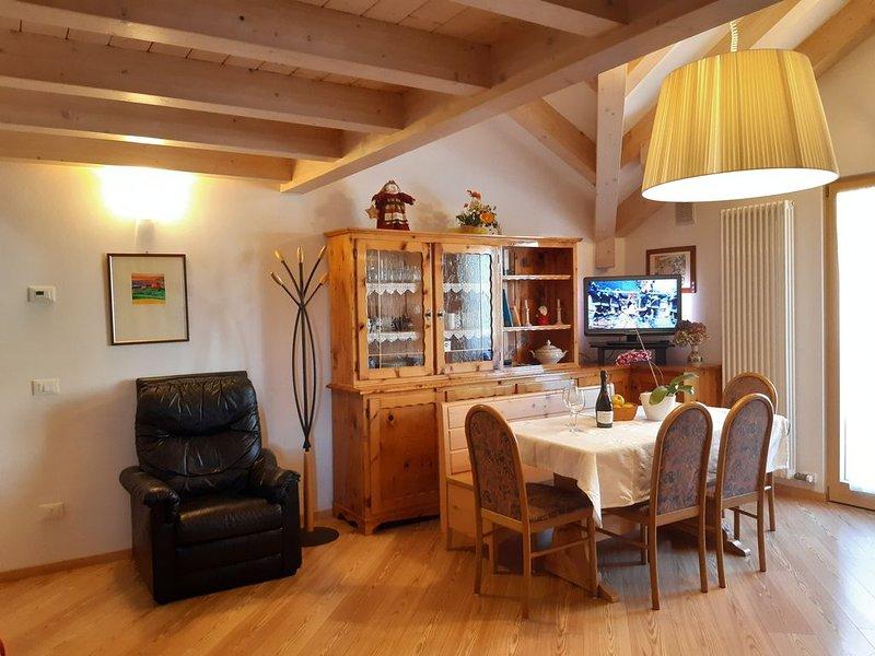 Residenza Tonidandel accogliente  mansarda con due stanze e due bagni, holiday rental in Mezzolombardo