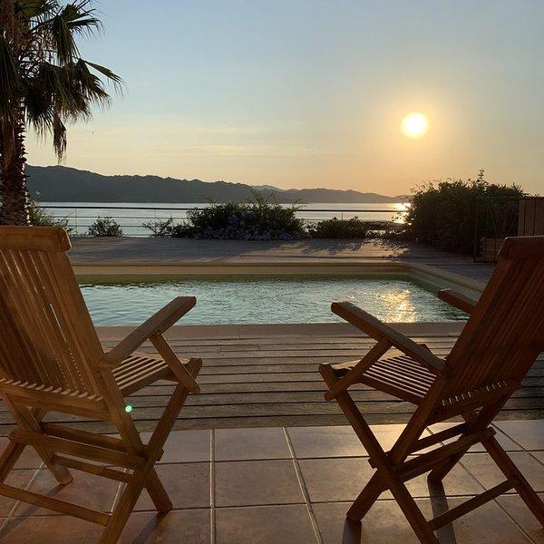 Maison de charme avec splendide vue sur la baie, location de vacances à Casta