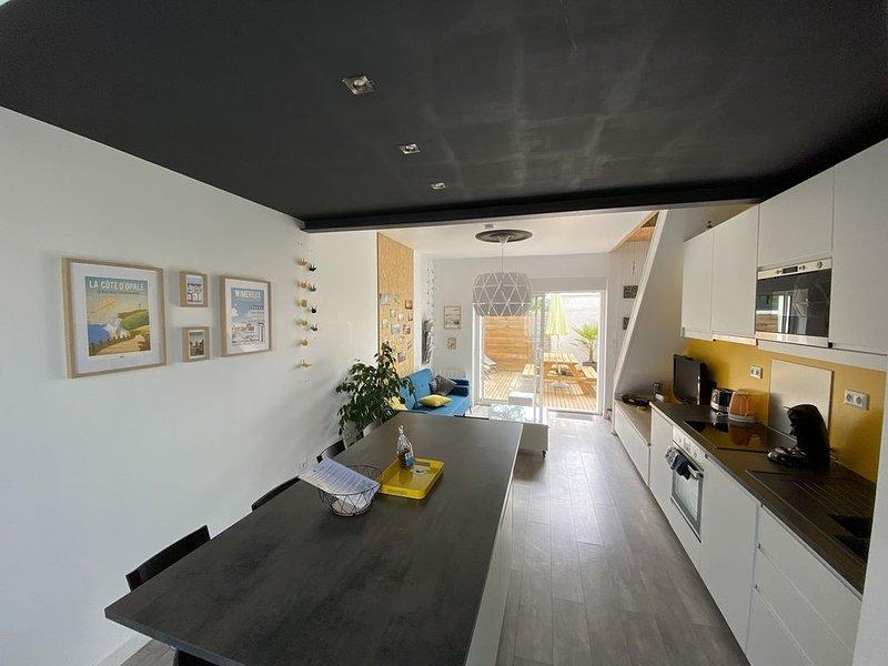 Wimereux-centre : Le Réservoir, maison tout confort 2 chambres 5 pers, terrasse, holiday rental in Wimereux