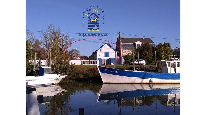 Ma cabane au bord de l'eau, location de vacances à Arvert