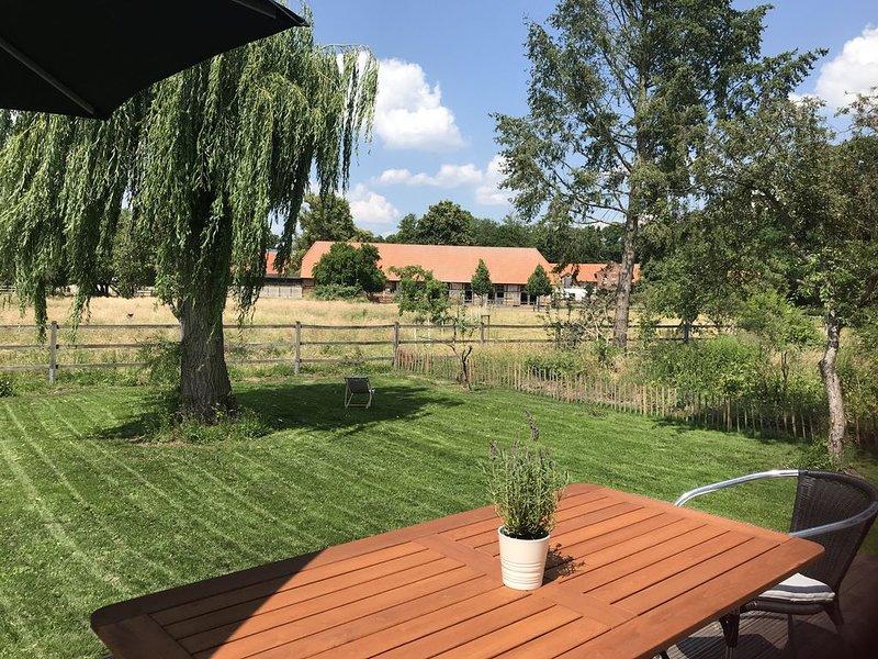 Weite, Ruhe, Gelassenheit - Erholung mit Blick auf historischen Gutshof, location de vacances à Waddeweitz