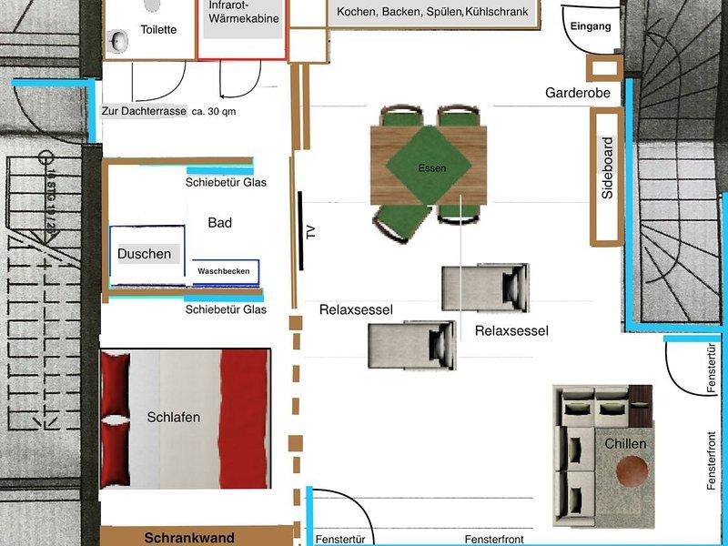 Ferienwohnung Schwarzwald-Loft, 60qm, 1 Schlafzimmer, max. 3 Personen, holiday rental in Durbach