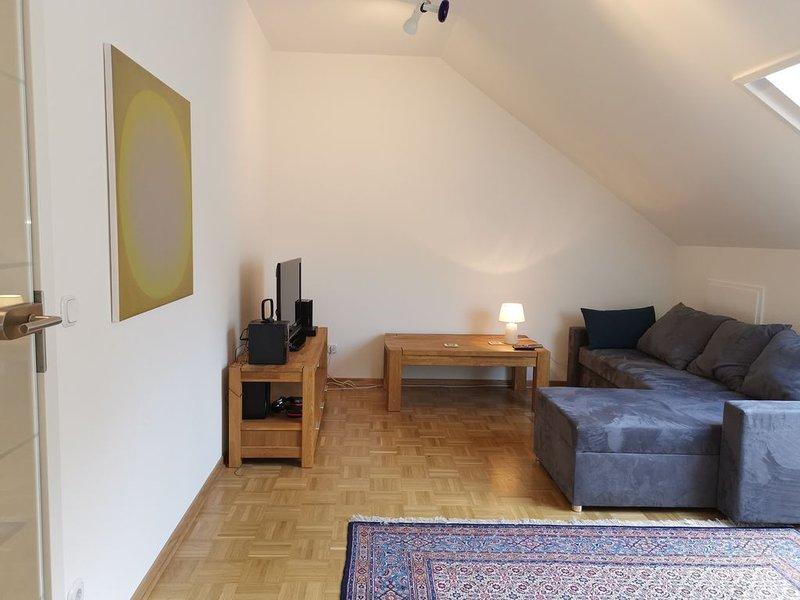 Sehr schöne neue Wohnung, 70 m2, attraktive Region Lemgo/Bad Salzuflen in Lippe, vacation rental in Porta Westfalica