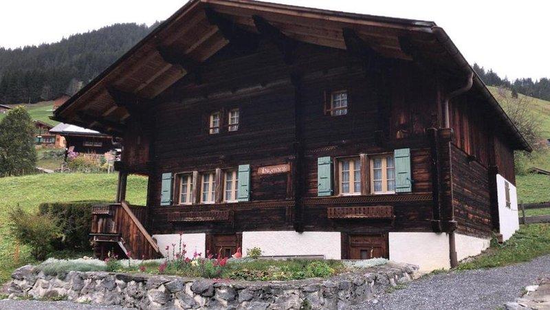 Ferienhaus Gimmelwald für 2 - 6 Personen mit 3 Schlafzimmern - Bauernhaus, alquiler vacacional en Blatten