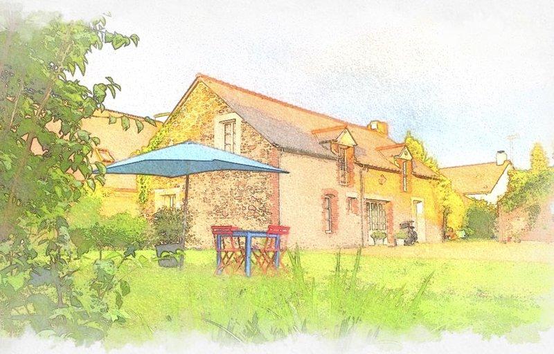 Maison de famille avec jardin, holiday rental in Pleslin-Trigavou