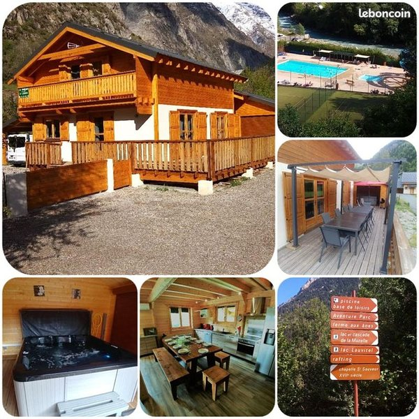 LES 2 ALPES VENOSC VILLAGE Chalet MELGUEIL  3*/10 pers ski jacuzzi wifi, holiday rental in Vénosc