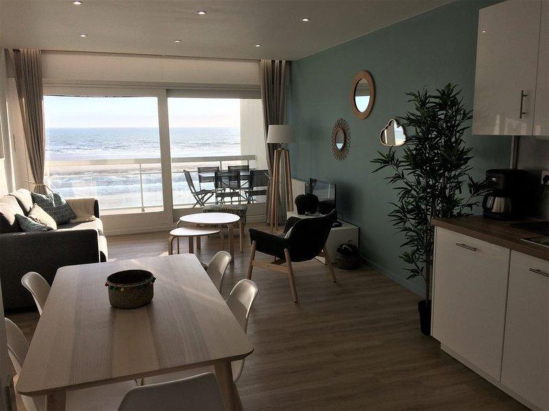 La Petite Bulle, vue mer, appt 4/5 pers, location de vacances à Equihen-Plage