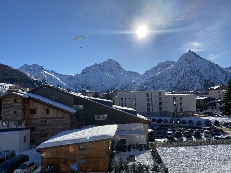 Appartement pied des pistes plein sud, alquiler vacacional en Mont-de-Lans