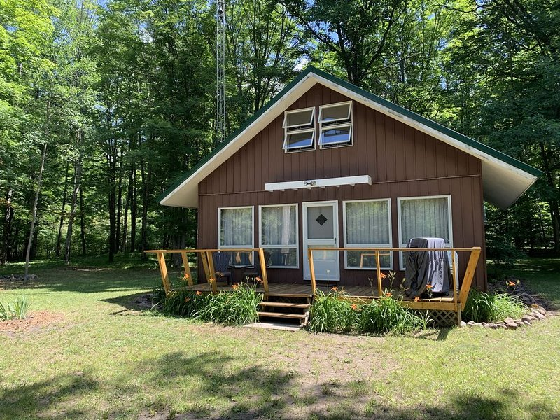 Muskegon River Cabin, holiday rental in LeRoy