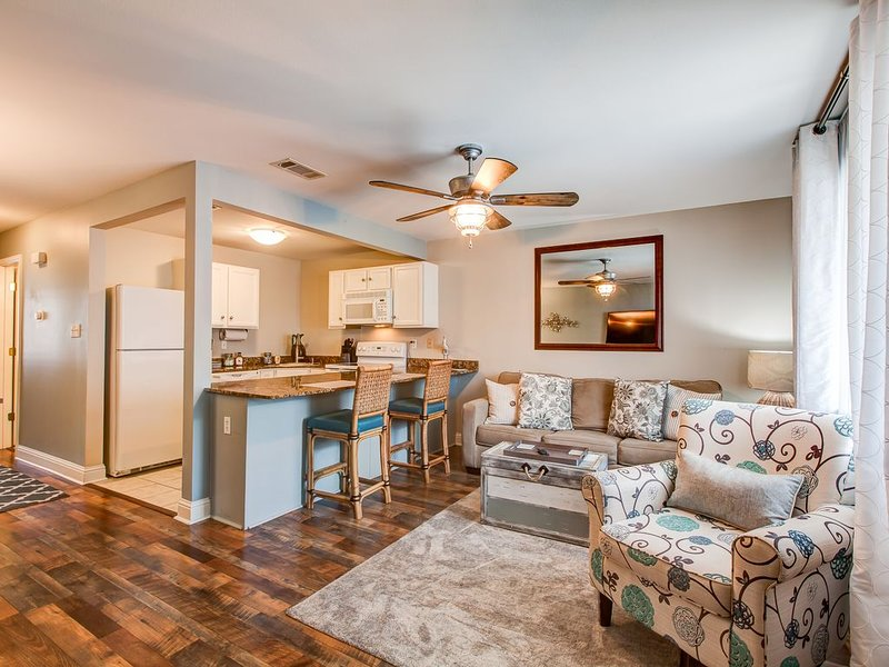 Cook and chat with your guests in this open floor plan.