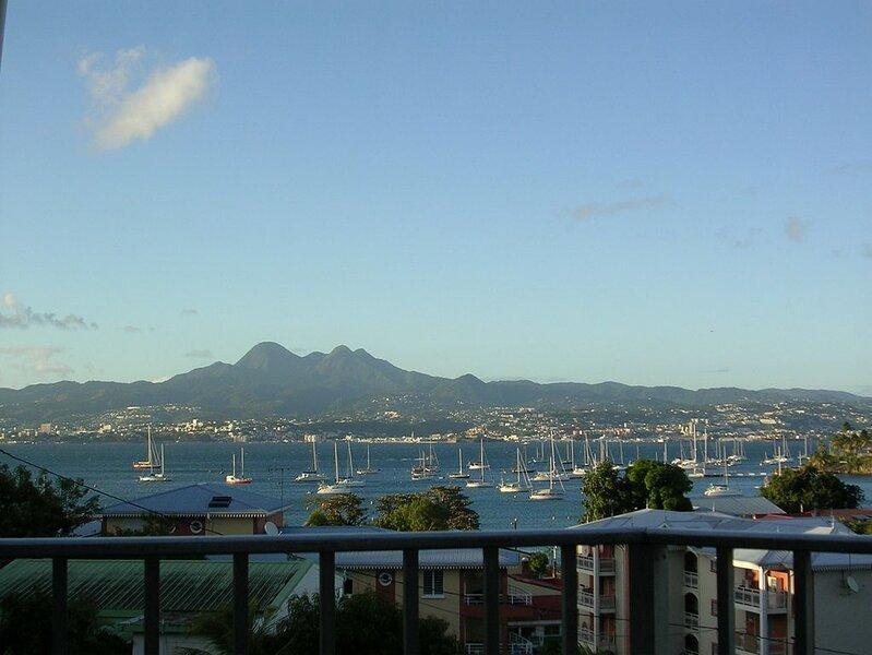 T1. Superbe vue panoramique sur la baie de Fort-de-France . WiFi, holiday rental in La Pagerie