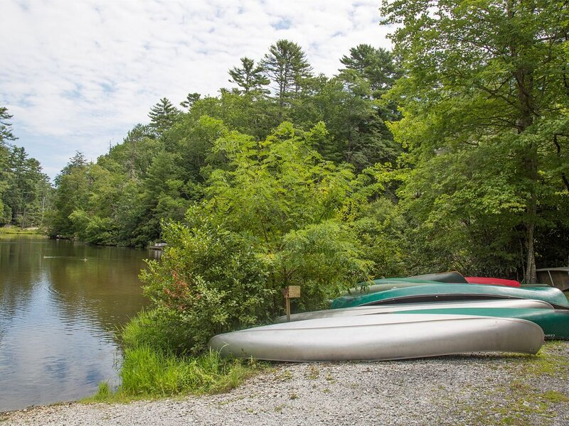 Use our canoe at Mirror Lake.