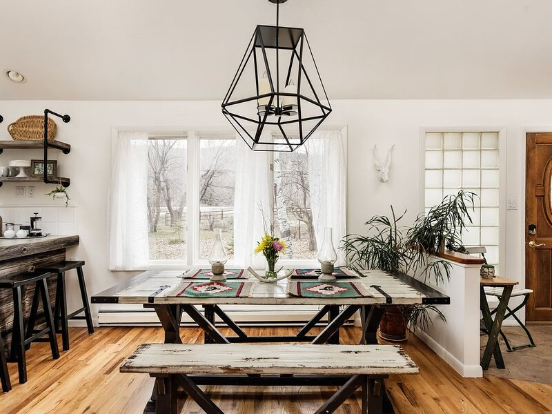 Large dining table for meals