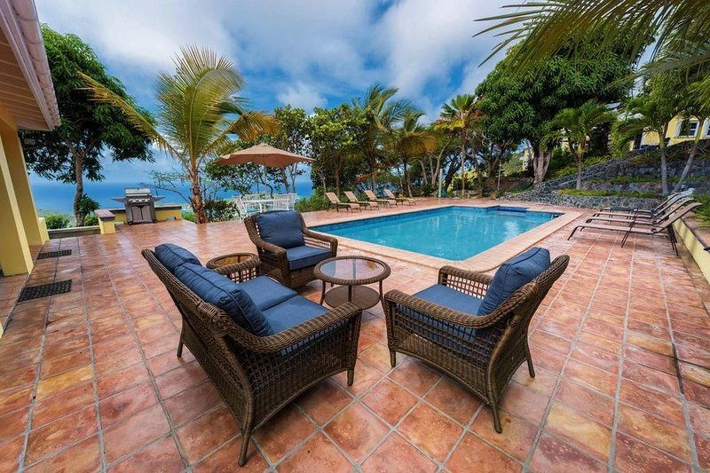 Two-villa estate overlooking Charlotte Amalie!, holiday rental in Magens Bay