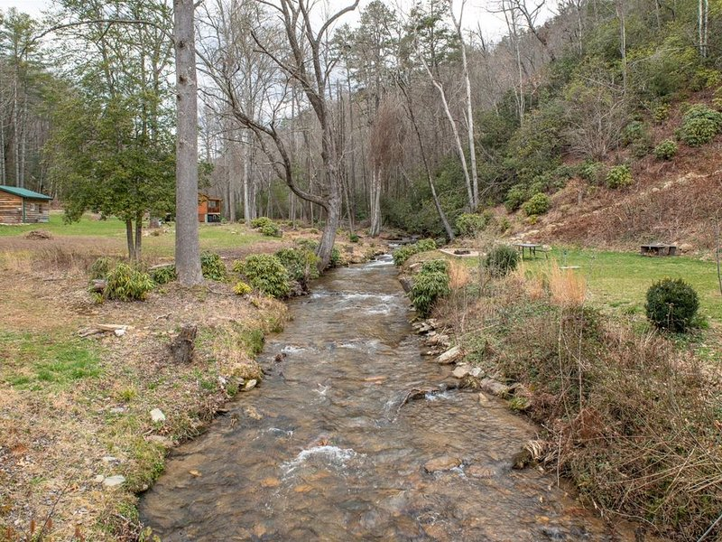 Creek and path to other cabin
