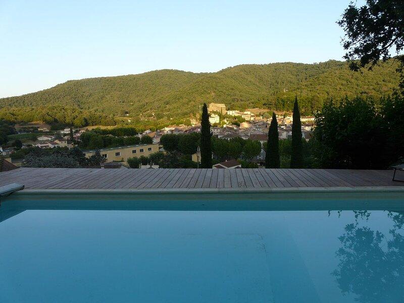 Villa de 150 m2 avec vue imprenable sur le village et ces collines, vacation rental in Collobrieres