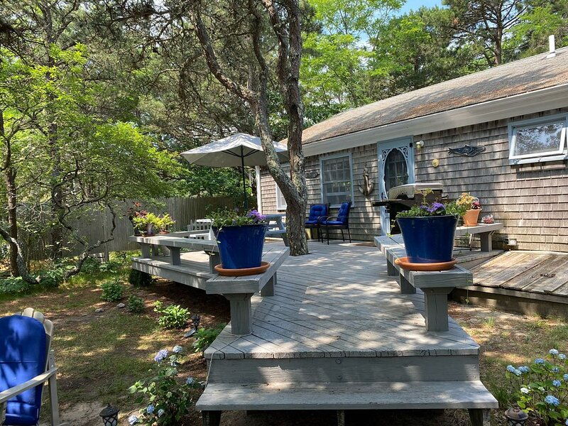Salt N' Pepper Cottage Steps to two private Cape Cod bay beaches for you!, Ferienwohnung in Eastham