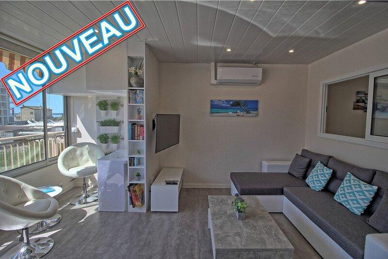 Magnifique appartement, aperçu mer,  climatisé proche plage et commerces, vacation rental in Golfe-Juan Vallauris