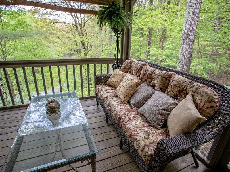 Comfy Sofa on Screened Porch
