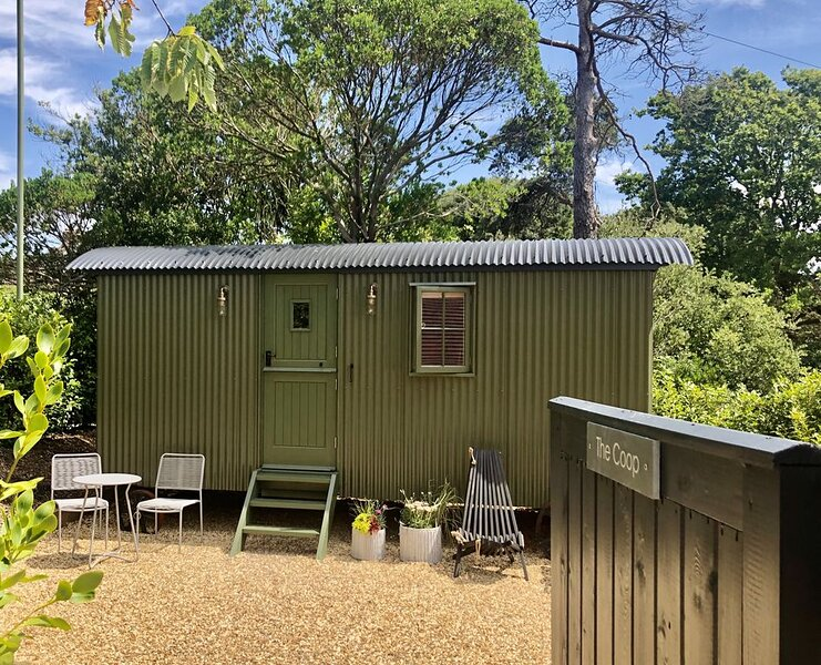 Shepherd's hut, walk to beach and village, great access to the New Forest, holiday rental in Downton