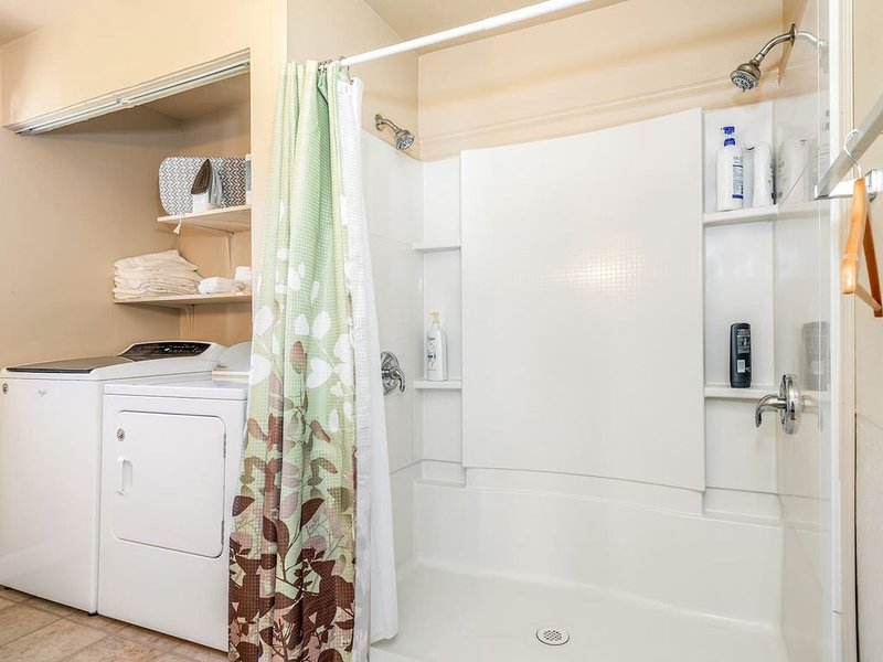 No-step shower and laundry - main level