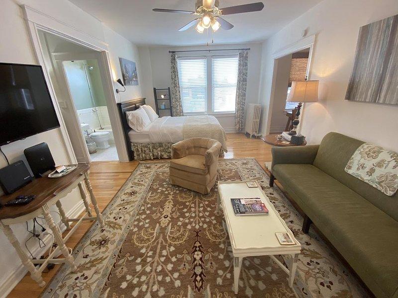 Emma Sale Suite: Studio Overlooking CWE, holiday rental in Saint Louis