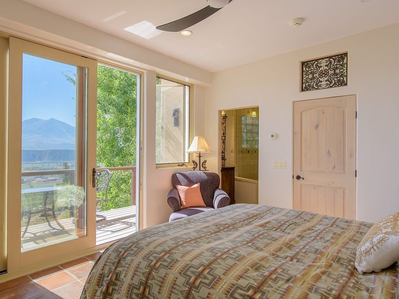 Master bedroom with gorgeous views!