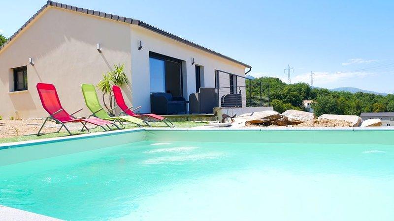Villa vue mer avec piscine, location de vacances à Sorbo-Ocagnano