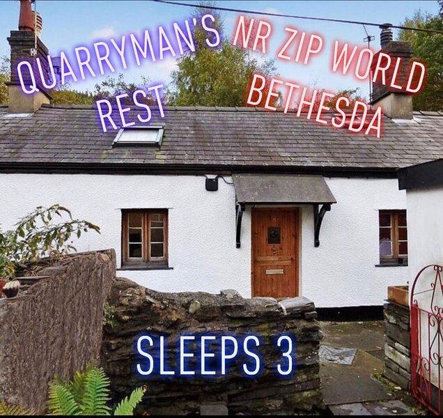 Quarryman's Rest Nr Zip World - A cosy cottage for 3, casa vacanza a Tregarth