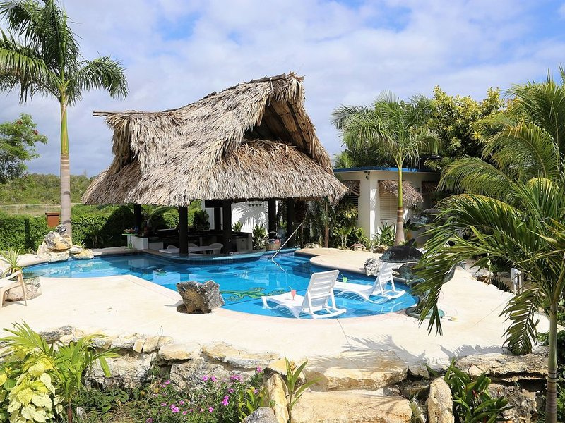 Welcome To The Gecko Bungalow! **Stunning POOL** FREE Int'l Airport Shuttle!!, holiday rental in Gales Point