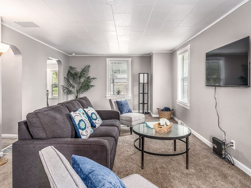 Comfortable living room with Smart TV and high speed WiFi