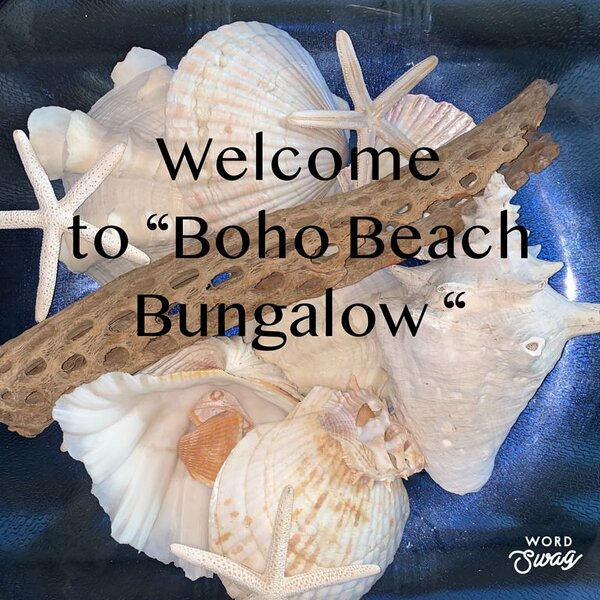 Welcome to Boho Beach Bungalow! 2 bed/2 bath ,Sleeps 6. Private Beach and Pool, Ferienwohnung in Ormond Beach