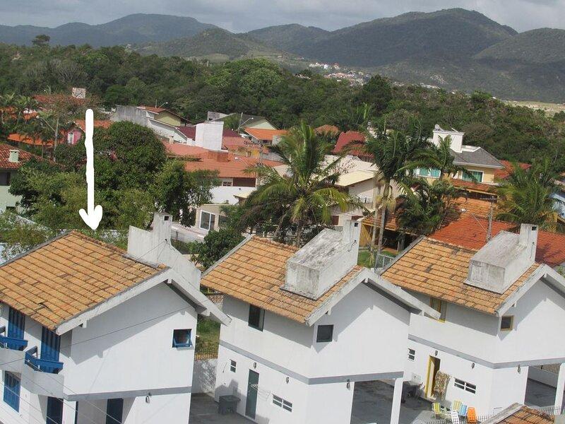 Mais uma vista das 3 Unidades do Resid. Villa Verão  -  Casa Azul  assinalada.
