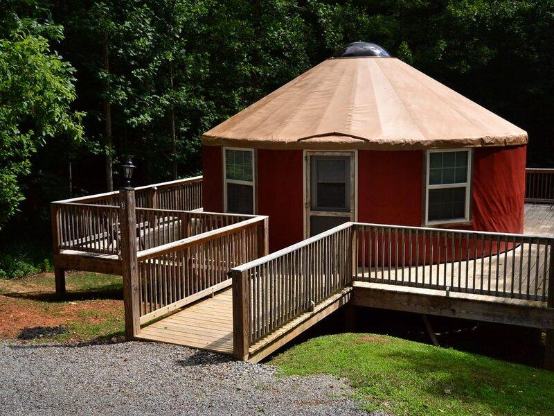 Yurt 3 | Small Yurt, Honeymoon Yurt- Studio Style Mountain Property, holiday rental in Greenville