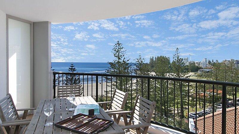 Calypso Tower Unit 807 Three bedroom apartment beachfront in central Coolangatta, holiday rental in Coolangatta