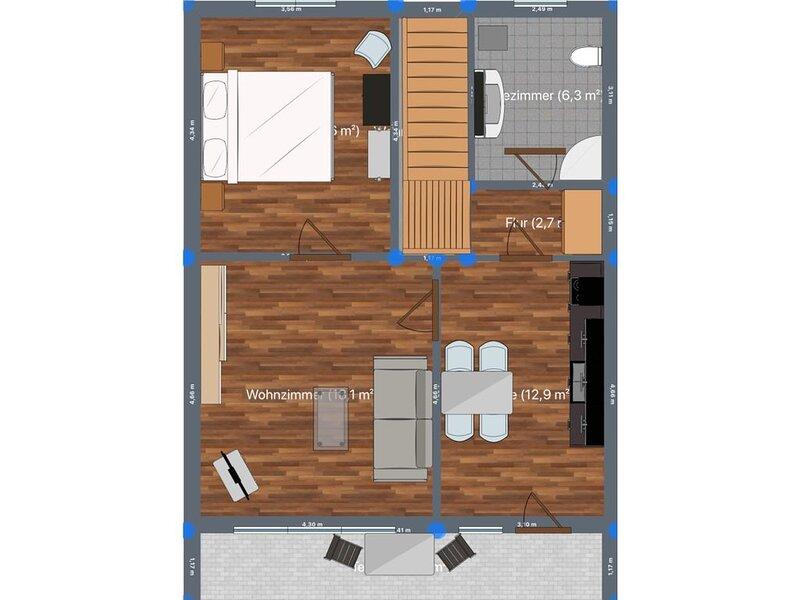 Ferienwohnungen Hecker - Wohnung 5 mit 60 qm und eigenem Eingang, holiday rental in Kelheim