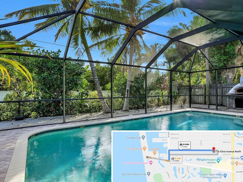 Exquisite Spacious Coastal Boasts Heated Pool and Two Masters, alquiler de vacaciones en Vanderbilt Beach