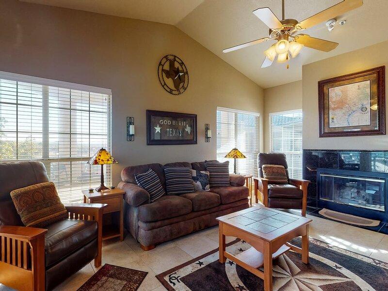 Fireplace & HDTV in Family Room