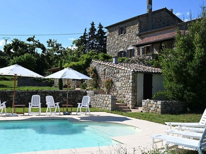 Restful Villa in Largentière with Swimming Pool, holiday rental in Uzer