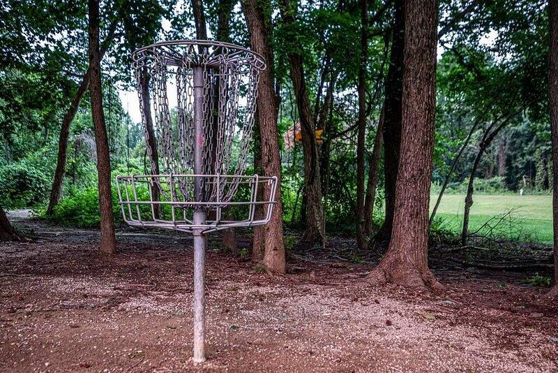 18 basket disc golf course!