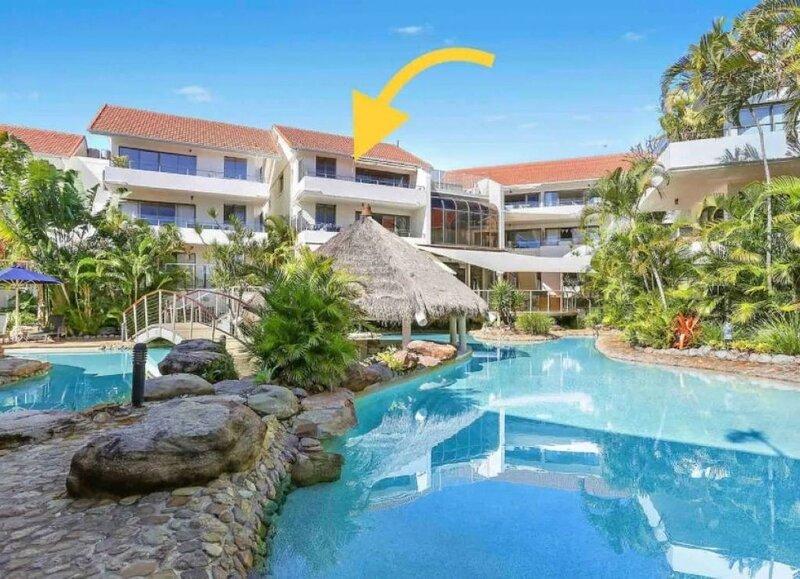 Spacious pool view apt in family-friendly Noosa Heads resort & hinterland views, holiday rental in Noosa Heads