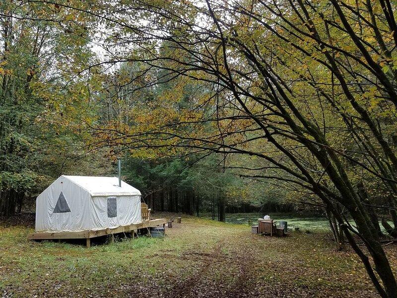 Tentrr Signature Site - Catskill Mountainside Camp, aluguéis de temporada em Kenoza Lake